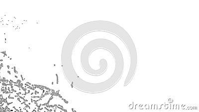 Zakończenie widok duży pluśnięcie popielaty fluid transperent ciecz zbiory