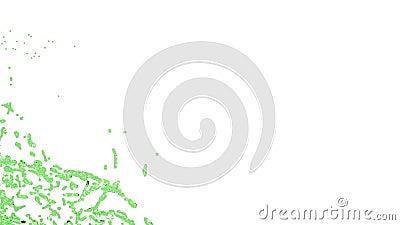 Zakończenie widok duży pluśnięcie zielony fluid transperent ciecz royalty ilustracja