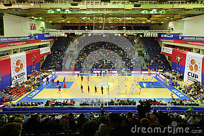 Zalgiris and CSKA Moscow  teams prepare for match Editorial Photo