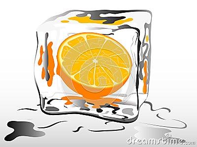 Zamarznięta pomarańcze