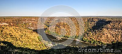 Zambezi river gorge stock photo image 48179307 for Garden design ideas in zimbabwe