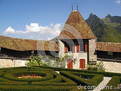 Zamek gruyere Szwajcarii