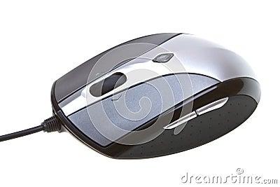 Zamkniętego komputeru odosobniona mysz w górę biel