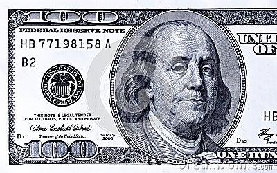 Zamknięty 100 zamkniętych dolarów