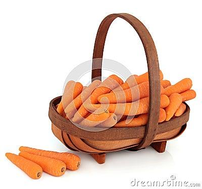 Zanahorias en una cesta