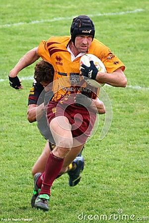 Zapałczany rugby Fotografia Editorial