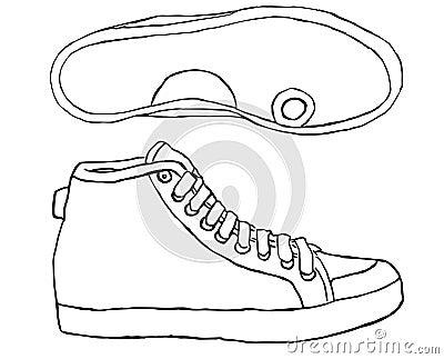 como dibujar un zapatotenis youtube. vector sneaker graphics_fjpg ...