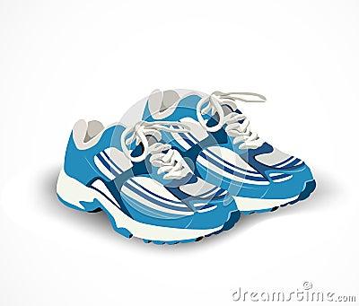 Zapatos del deporte, zapatillas de deporte. Ejemplo del vector