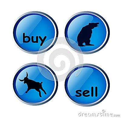 Zapina glansowanego rynek walutowy wektor