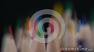 Zaprawiony kolorów ołówków asortyment, sztuka i edukacja, indywidualność, tworzenie zdjęcie wideo