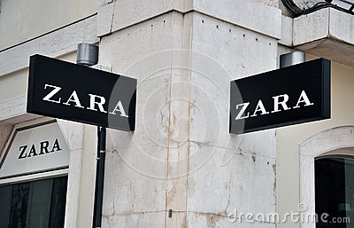 Zara store sign Editorial Photography