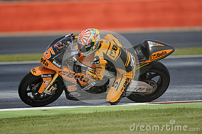Zarco de Juan, moto 2, 2012 Imagen editorial
