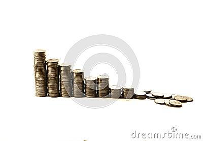 Zawalenia się kryzysu pieniężna inwestycja