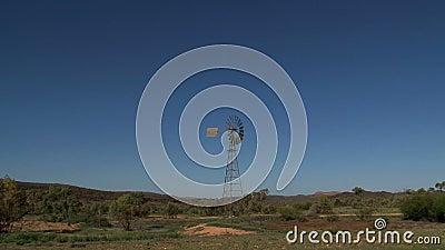 Zbliża out od starego wiatraczka w Alice Springs, Australia zbiory