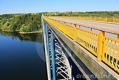 Zdakovkov bridge over the dam Orlik