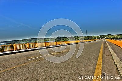 Zdakovkov bridge over the dam Orlik