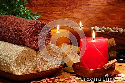 Zdrój świątecznych ręcznik aromatherapy świeczki