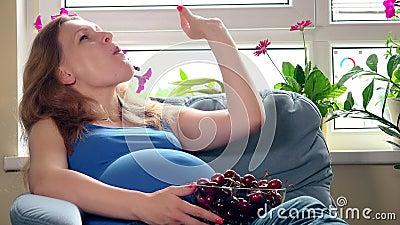 Zdrowy odżywianie w ninth ciążowym miesiącu zbiory wideo