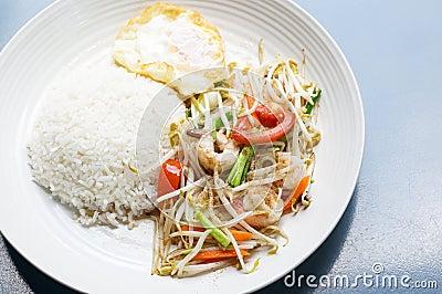 Zdrowy tajlandzki jedzenie