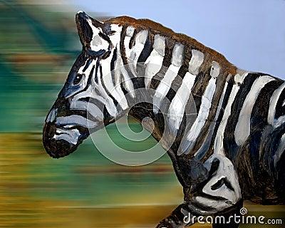 painting of zebra