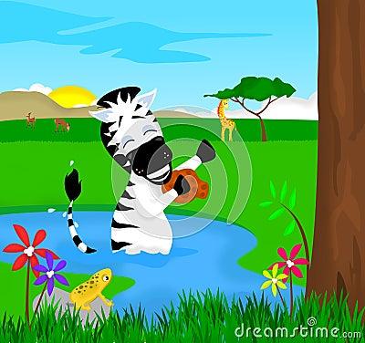Zebra Bath