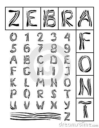 Zebra Font