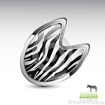 Zebra footprint button