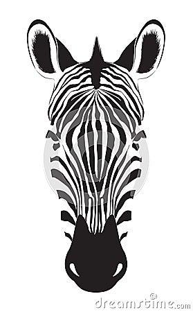 Free Zebra Head  On White Background. Zebra Logo. Vector Illu Royalty Free Stock Image - 66480426