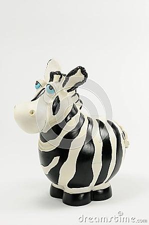 Zebra moneybox