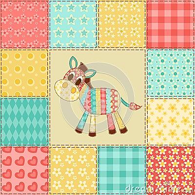 Zebra patchwork pattern