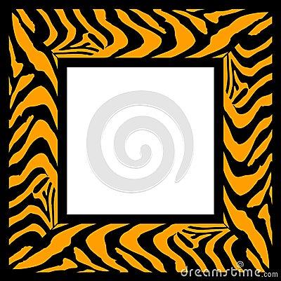 Zebra pattern frame