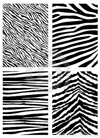 Free Zebra Pattern Vector Royalty Free Stock Image - 6156146
