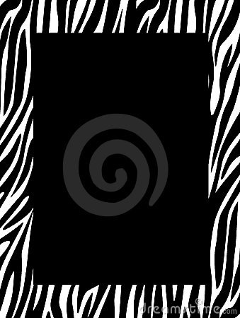 Free Zebra Print Border Stock Photos - 12542893