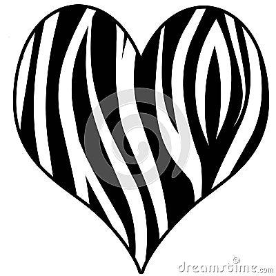 Zebra Print Heart