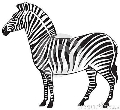 Zebra silhouette, African herbivore wild animal, best known for the ... Zebra Weight