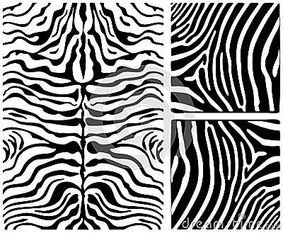 Zebra skin set