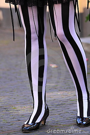 Zebra striped legs