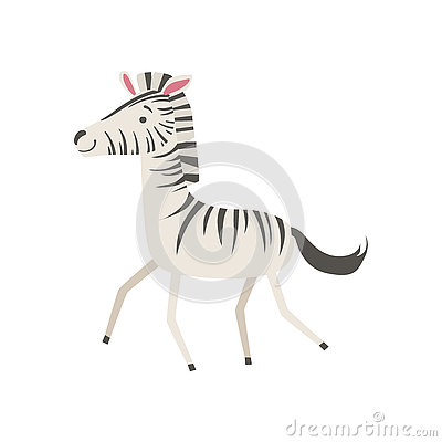 Free Zebra Stylized Childish Drawing Royalty Free Stock Photography - 75132917