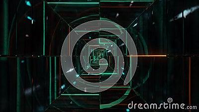 Zeer abstracte gloeiende wireframefragmenten 3d illustratie levende achtergrond van de modemotie achtergrond ontwerp visuele vj l vector illustratie