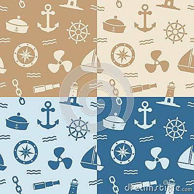 Zeevaart Naadloze Patronen