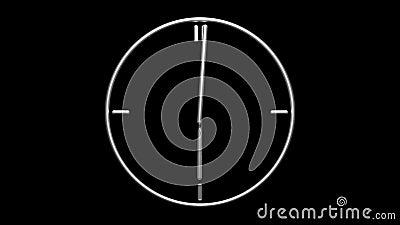 zegar metaliczny zbiory wideo