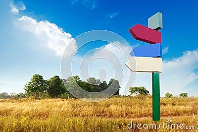 Zeichen auf der leeren Wildnis