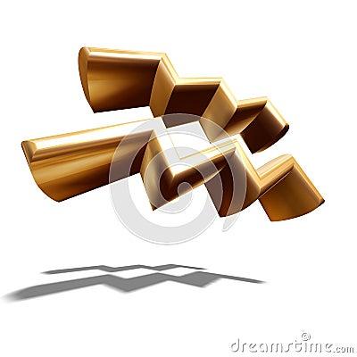 zeichen des tierkreis 3d wassermann stockfoto bild 3510290. Black Bedroom Furniture Sets. Home Design Ideas