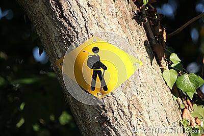 Zeichen für Wanderer