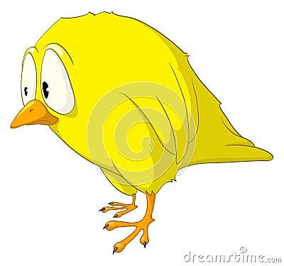 Zeichentrickfilm-Figur-Melancholie-Vogel