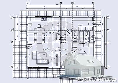 zeichnen mit haus 3d lizenzfreies stockbild bild 14911506. Black Bedroom Furniture Sets. Home Design Ideas