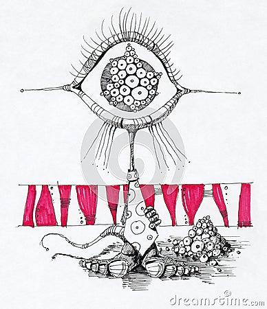 Zeichnung des ausländischen Zeichens