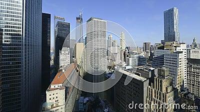 Zeitraffer der Skyline von Low Manhattan stock footage