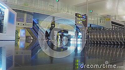 Zeitraffer des Flughafens Vintage stock footage