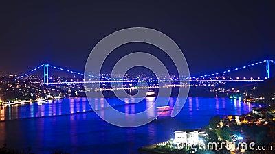 Zeitspanne von II Bosporus-Brücke in Istanbul stock video footage